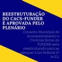REESTRUTURAÇÃO DO CACS-FUNDEB É APROVADA PELO PLENÁRIO